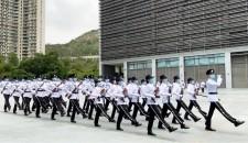帥氣!香港入境處開放日展示中式步操