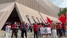優專才維港旁高唱國歌 歡慶新中國成立72周年